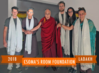 Csoma's Room Foundation on audience for the second time, with the Dalai Lama